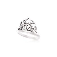 Anel Mandala - Prata Envelhecida