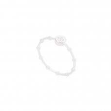 Anel Solitário com Bolinhas - Prata Branca