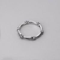 Anel Gotas Vazadas com Zircônias - Prata Envelhecida