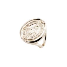 Anel Medalha Nossa Senhora das Graças - Folheado a Ouro