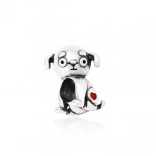 Berloque Cachorro - Prata