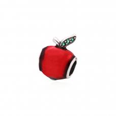 Berloque Maçã Vermelha - Prata Envelhecida