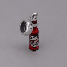 Berloque Garrafa de Cerveja - Prata
