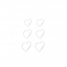 Brinco Trio de Corações - Prata Branca