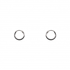 Brinco de Argola 8 mm - Prata Branca