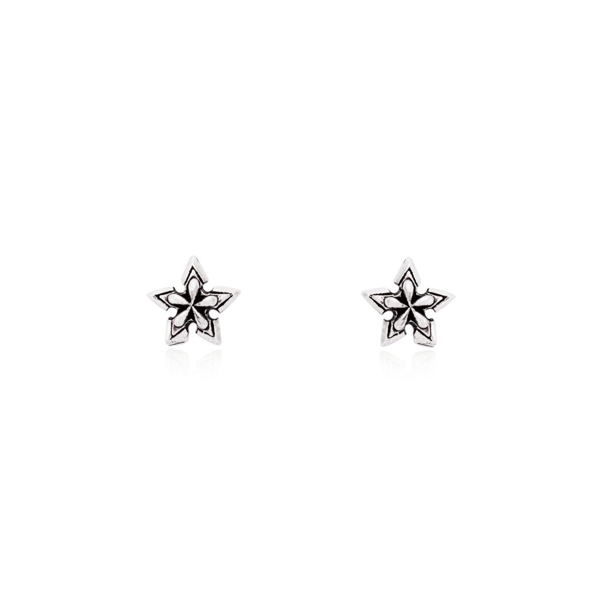 Brinco Estrela - Prata Envelhecida