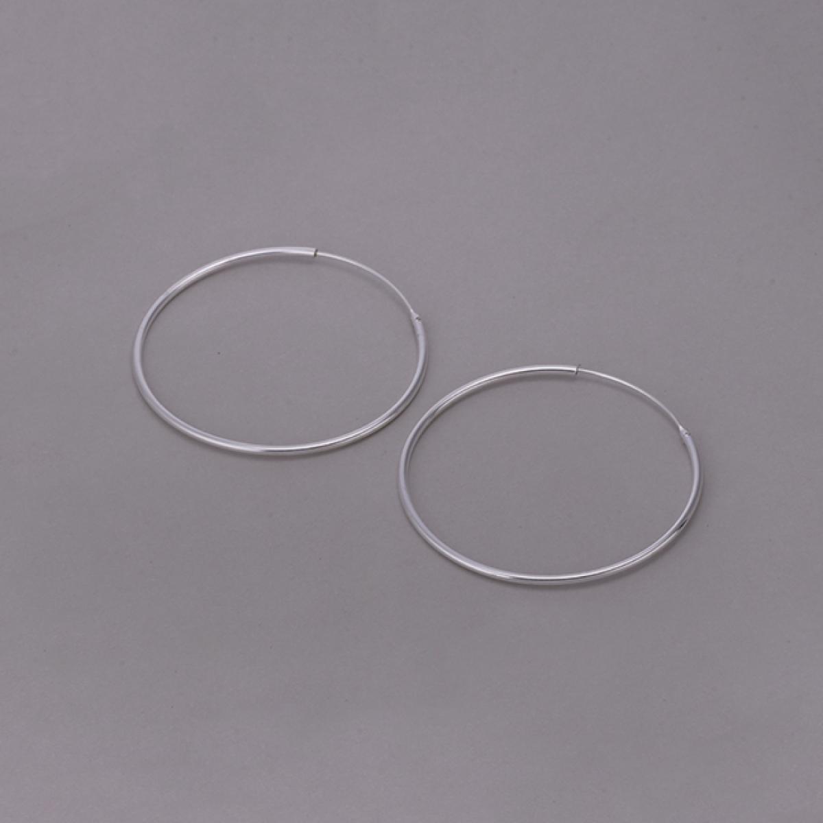 Brinco de Argola 5,5cm - Prata Branca
