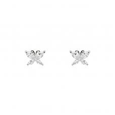 Brinco Borboleta - Ródio Branco