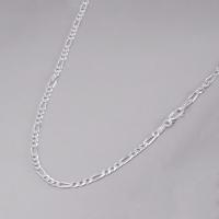 Corrente Fígaro 60 cm/ 3 mm - Prata Branca