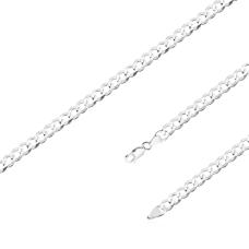 Corrente Groumet 70 cm/ 5 mm - Prata Branca
