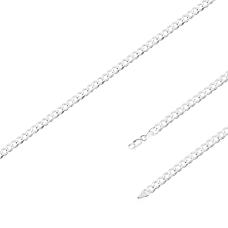 Corrente Groumet 60 cm/ 5.7 mm - Prata Branca
