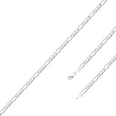 Corrente Fígaro 70 cm/ 3 mm - Prata Branca