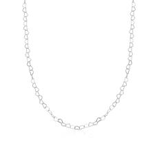 Corrente Coração Entrelaçado 60 cm - Prata Branca