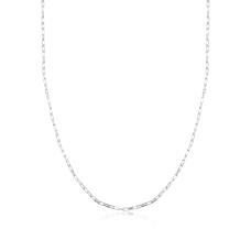 Corrente Cartier Fina 60 cm - Prata Branca