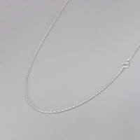 Corrente Pipoca Laminada 50cm/ 1,4mm - Prata Branca