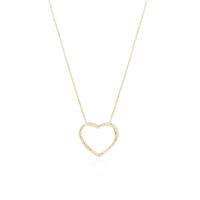 Gargantilha Coração Vazado Cravejado - Folheado a Ouro