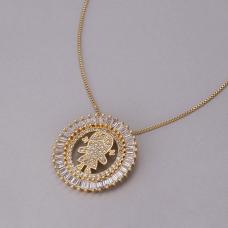 Gargantilha Mandala Menina - Folheado a Ouro
