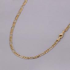 Corrente Fígaro 60cm/ 4mm - Folheado a Ouro