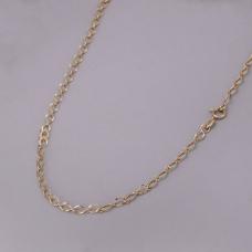 Corrente com Elos Ovais 70cm - Folheado a Ouro