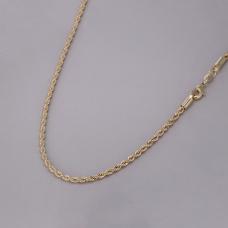 Corrente Cordão Baiano 45cm/ 3mm - Folheado a Ouro