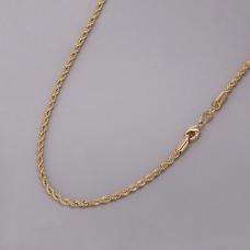 Corrente Cordão Baiano 40cm/ 3mm - Folheado a Ouro