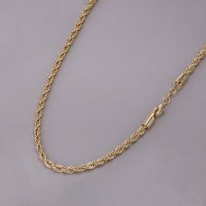 Corrente Cordão Baiano 40cm/ 4mm - Folheado a Ouro