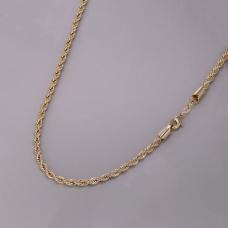 Corrente Cordão Baiano 45cm/ 4mm - Folheado a Ouro