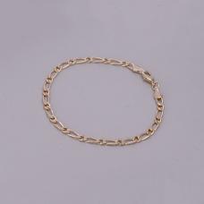 Pulseira Masculina Fígaro 20 cm/ 4 mm - Folheado a Ouro