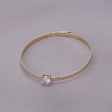 Bracelete Rígido com Ponto de Luz - Folheado a Ouro