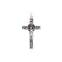 Pingente Crucifixo - Prata Envelhecida