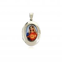 Pingente Relicário Sagrado Coração de Maria