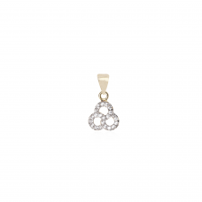 Pingente Três Círculos - Folheado a Ouro e Ródio Branco