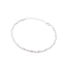 Pulseira Cravejada com Zircônias - Prata Branca