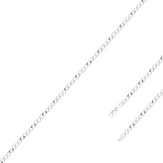 Pulseira Infantil Groumet 14 cm - Prata Branca