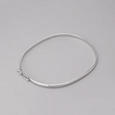 Bracelete Rígido Liso - Prata Branca