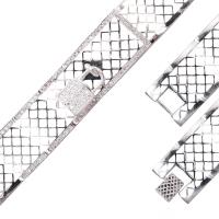 Pulseira com Cadeado Cravejado - Prata Branca