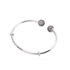 Bracelete para Berloques Rígido - Prata Branca