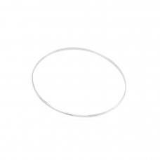 Pulseira Argola Lisa - Prata Branca