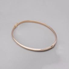 Bracelete Rígido Liso - Folheado a Ouro