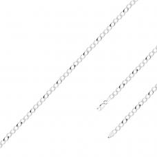Pulseira Groumet 20 cm/ 3.7 mm - Prata Branca