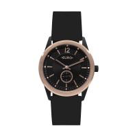 Kit Relógio Euro Preto e Rosé Feminino EU1L45AB/K8P