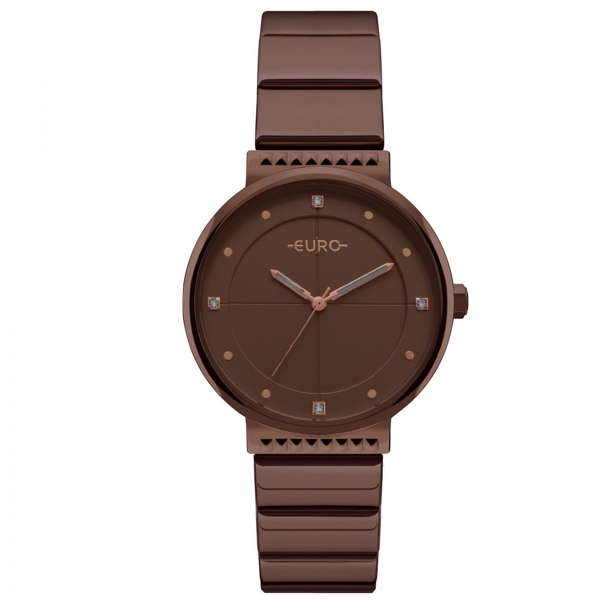 Kit Relógio Euro Marrom Feminino EU2035YSF/K4M