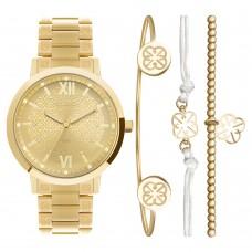 Kit Relógio Euro Dourado Feminino EU2035YSM/K4D