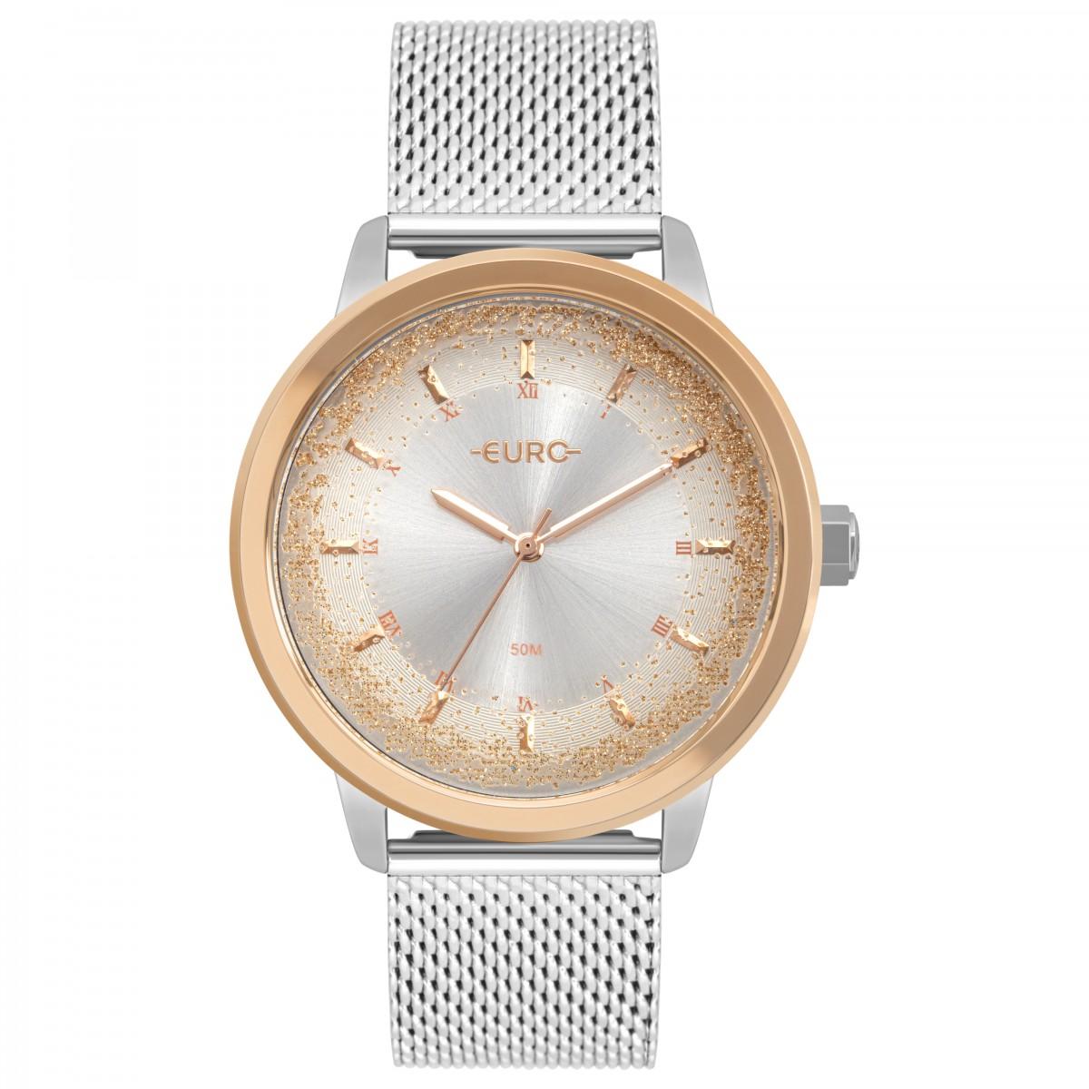 Relógio Euro Rosé e Prata Feminino EU2036YQQ/4K