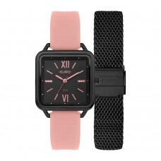 Kit Relógio Euro Preto Feminino EU2036YRD/T4P