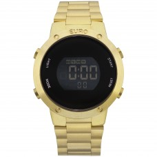 Relógio Euro Digital Dourado EUBJ3279AA/K4D