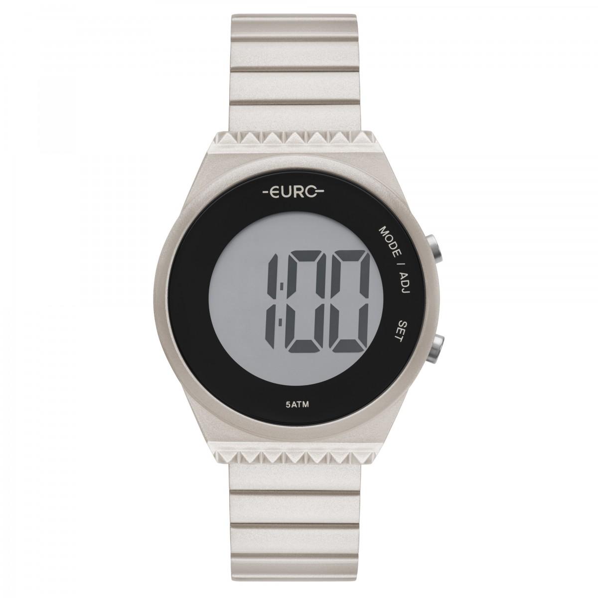 Relógio Euro Digital Champanhe Feminino EUBJT016AG/4C