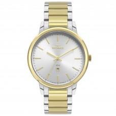 Relógio Technos Dourado e Prata Feminino 2015CDO/5K
