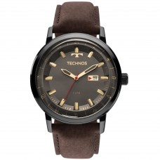 Relógio Technos Couro Masculino 2115LAQ/2C