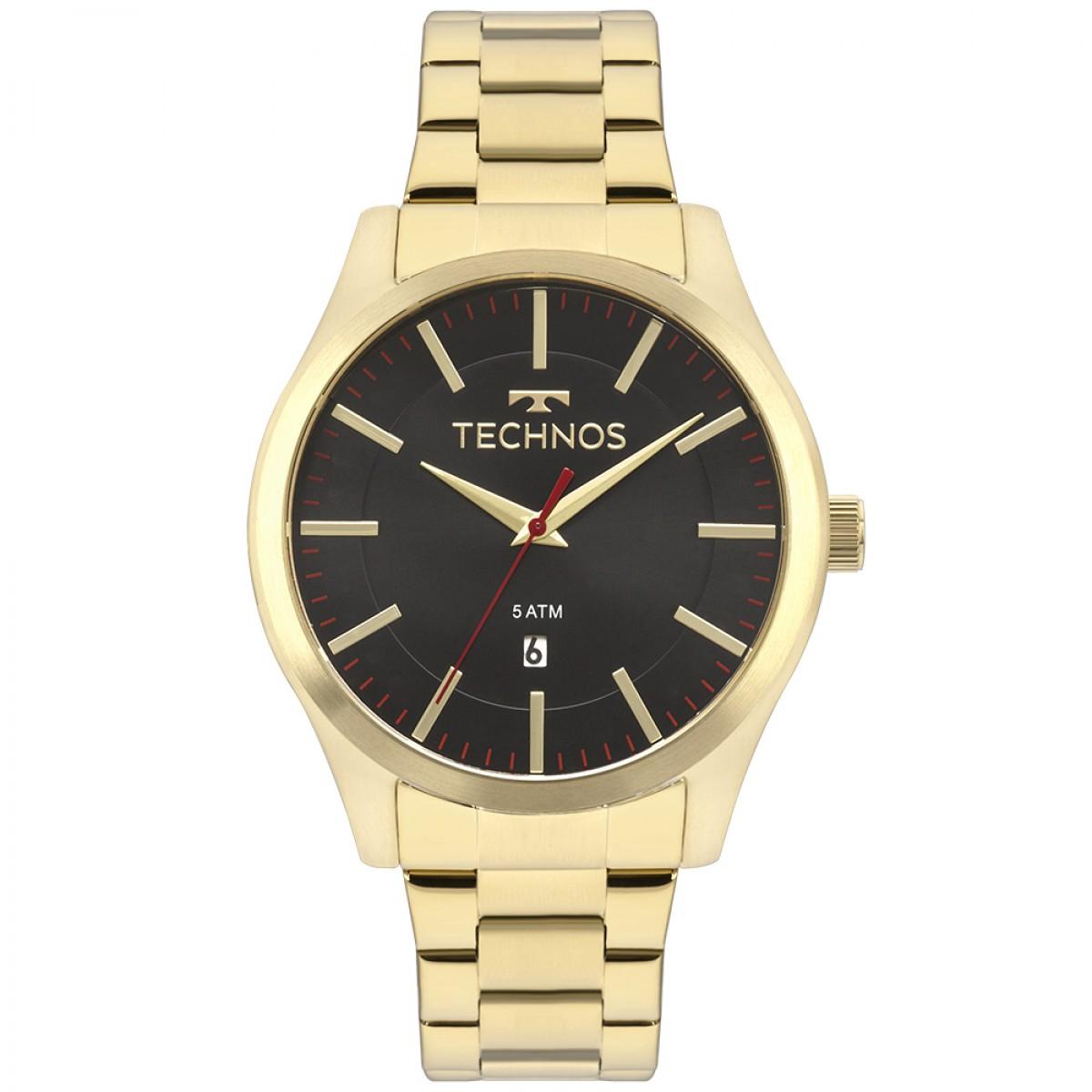 Relógio Technos Dourado Masculino 2115MMKS/4P